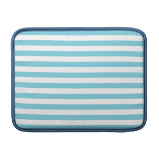 Blue and White Stripe Pattern MacBook Sleeves