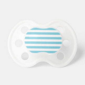 Blue and White Stripe Pattern Pacifier