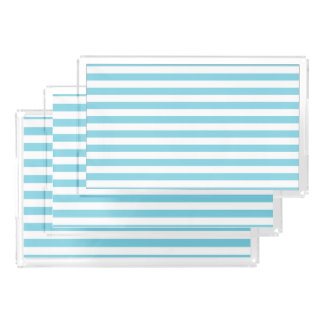 Blue and White Stripe Pattern Perfume Tray