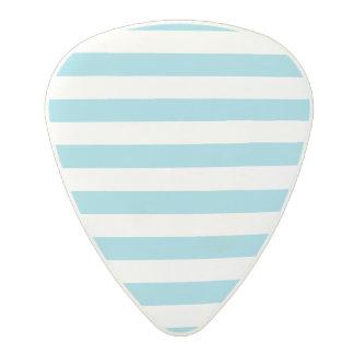 Blue and White Stripe Pattern Polycarbonate Guitar Pick