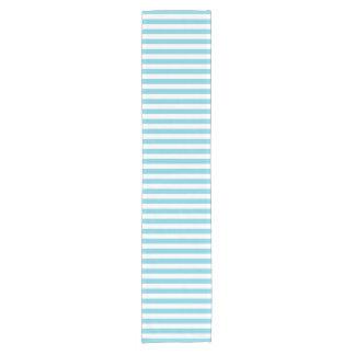 Blue and White Stripe Pattern Short Table Runner
