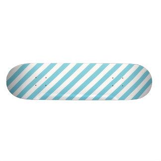 Blue and White Stripe Pattern Skate Decks