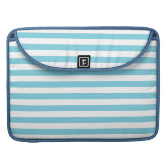Blue and White Stripe Pattern Sleeve For MacBook Pro