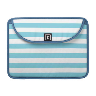 Blue and White Stripe Pattern Sleeves For MacBook Pro