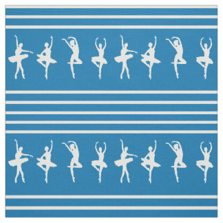 Blue and White Striped Ballet Dance Fabric