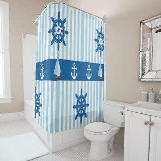 Blue and White Striped Beach Monogramed design.
