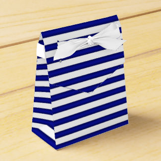 Blue and White Striped  Favor Box