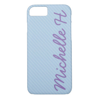 Blue and White Striped iPhone 8/7 Case