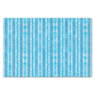 Blue and White Striped Pattern Tissue Paper