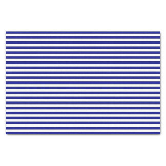 Blue and White Striped Tissue Paper
