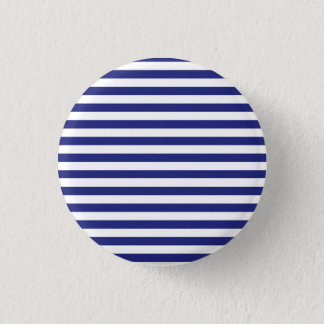 Blue and White Stripes Button