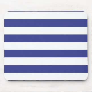 Blue and White Stripes Mousepads