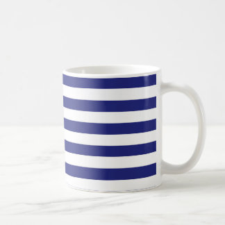 Blue and White Stripes Mug
