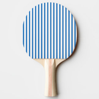 Blue and White Stripes Ping Pong Paddle