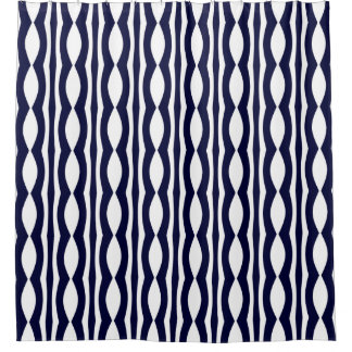 Blue And White Stripes Retro Pattern