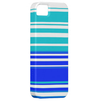 Blue and white stripes seamless painting graphic iPhone 5 cover