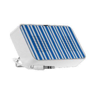 Blue and white stripes laptop speaker