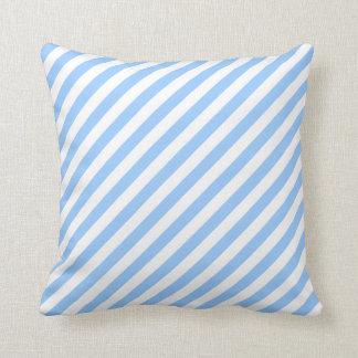 Blue and White Stripes. Throw Pillow
