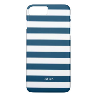 Blue and White Stripes With Custom Name Case-Mate iPhone Case