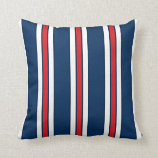 Blue and White Stripes with CUSTOMIZABLE ACCENT Throw Pillow