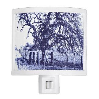 Blue and White Tangled Oak Night Light