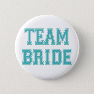 Blue and White Team Bride 2 Inch Round Button
