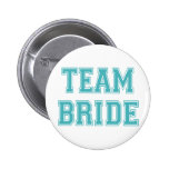 Blue and White Team Bride Pin