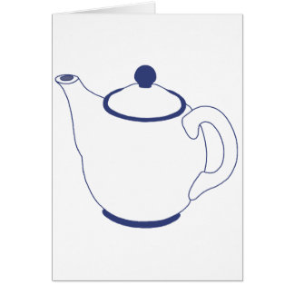 Blue and White Teapot Card