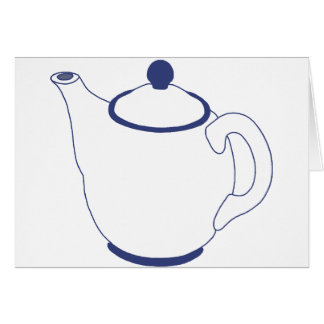 Blue and White Teapot Greeting Cards