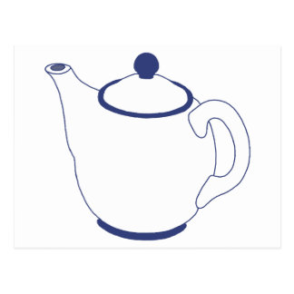 Blue and White Teapot Postcards