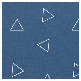 Blue and White Triangle Fabric by Stickelberry