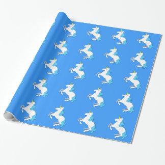 Blue and white unicorn