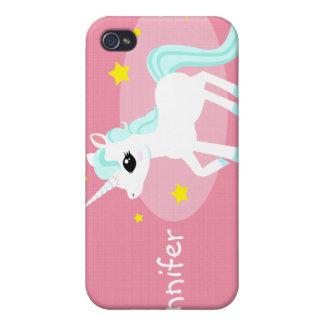 Blue and white Unicorn stars Customise iPhone 4/4S Cases