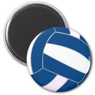 Blue and White Volleyball Magnet