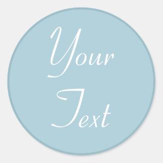 Blue and White Wedding Envelope Seals w/ Text