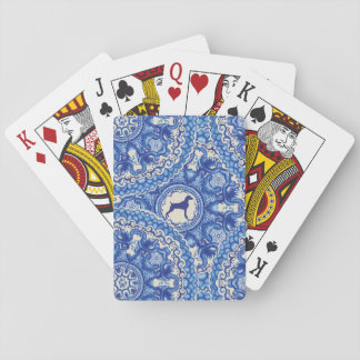 BLUE AND WHITE WEIM PLAYING CARDS STANDARD