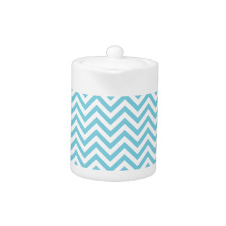 Blue and White Zigzag Stripes Chevron Pattern
