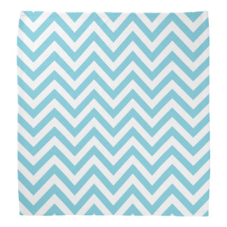 Blue and White Zigzag Stripes Chevron Pattern Bandana