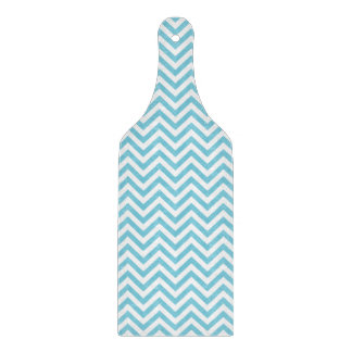 Blue and White Zigzag Stripes Chevron Pattern Boards