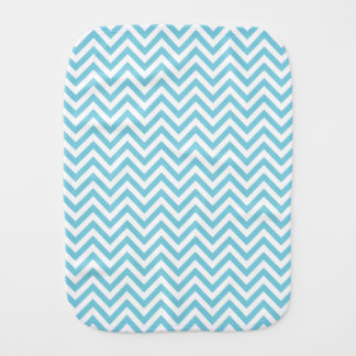 Blue and White Zigzag Stripes Chevron Pattern Burp Cloths