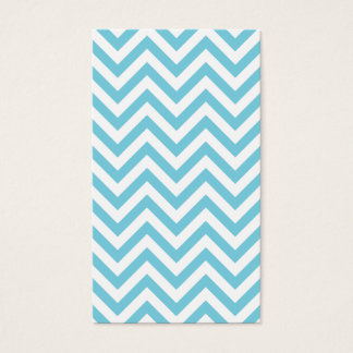 Blue and White Zigzag Stripes Chevron Pattern Business Card