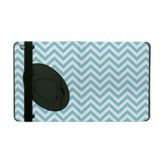 Blue and White Zigzag Stripes Chevron Pattern Covers For iPad