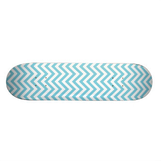 Blue and White Zigzag Stripes Chevron Pattern Custom Skateboard