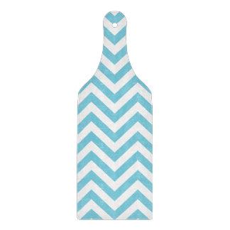 Blue and White Zigzag Stripes Chevron Pattern Cutting Board