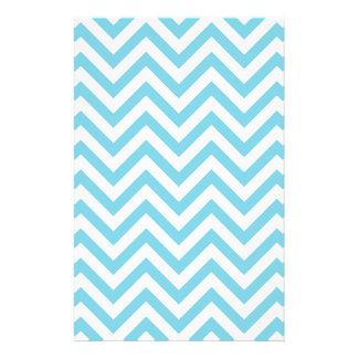 Blue and White Zigzag Stripes Chevron Pattern Flyer