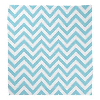 Blue and White Zigzag Stripes Chevron Pattern Head Kerchief