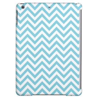 Blue and White Zigzag Stripes Chevron Pattern iPad Air Case