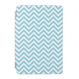 Blue and White Zigzag Stripes Chevron Pattern iPad Mini Cover