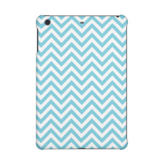 Blue and White Zigzag Stripes Chevron Pattern iPad Mini Covers