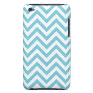 Blue and White Zigzag Stripes Chevron Pattern iPod Case-Mate Cases